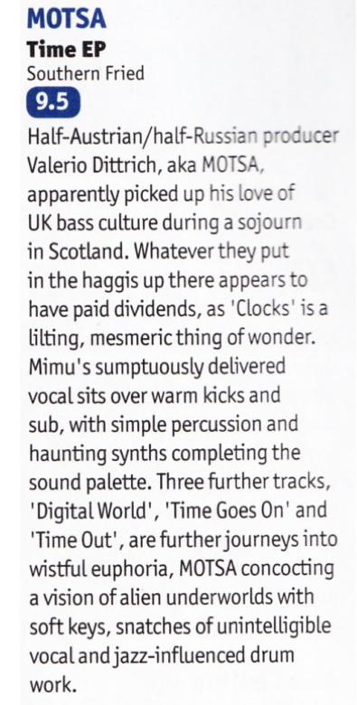 Time Review DJ Mag March 2015